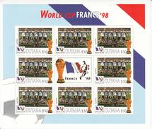 1998 Guyana Weltmeisterschaft Fußball Frankreich Team Österreich Blatt Von 8 MNH Großes Weihnachtsgeschenk - Coupe Du Monde
