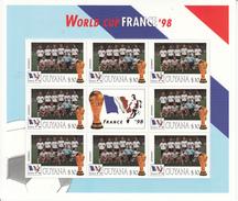 1998 Guyana Weltmeisterschaft Fußball Frankreich Team Deutschland Blatt Von 8 MNH Großes Weihnachtsgeschenk - Coupe Du Monde