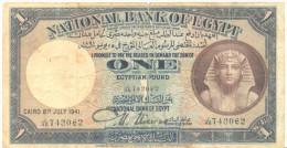 EGYPT  P. 22c 1 P 1941 VG - Egypt