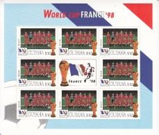 1998  Guyana World Cup Football France  Team BELGIUM Miniature Sheet Of 8 MNH. Great Christmas Present! - Coupe Du Monde