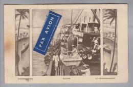 AK Goldküste Accra Mit Luftpost Trajet Dakar-France Nach Berlin - Cartes Postales