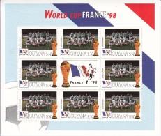 1998  Guyana World Cup Football France  Team SAUDI ARABIA Miniature Sheet Of 8 MNH. Great  Present! - Coupe Du Monde