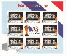 1998  Guyana World Cup Football France  Team YUGOSLAVIA Miniature Sheet Of 8 MNH. Great  Present! - Coupe Du Monde