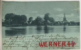 Gruss Aus Osten A.d.Oste V. 1898  Dorfansicht Mit Der Oste  (49405) - Cuxhaven