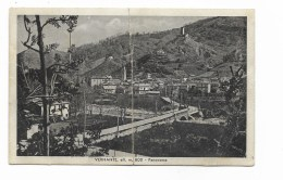 VERNANTE PANORAMA 1938  VIAGGIATA FP PIEGA AL CENTRO - Cuneo