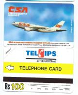 PAKISTAN T1 - 100Rs CSA Air Lines Small Band TEST 1995 MINT URMET NEUVE Avion Fly Plane - Pakistán