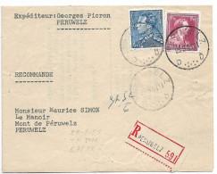Recommandé De Peruwelz ( 1951 ). - Belgique