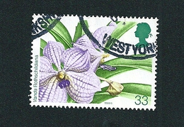 N° 1668 Orchidée-Vanda Rothschildiana Timbre  GRANDE BRETAGNE 1993  Oblitéré - Used Stamps
