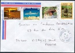 """Cachet """"PAPEETE RP / Ile Tahiti"""" - Polynésie Française"""