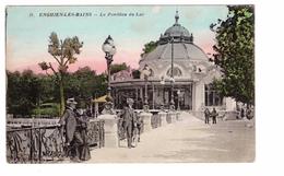 95 Enghien Les Bains Jle Pavillon Du Lac Carte Colorisée Carte Non Voyagée - Enghien Les Bains
