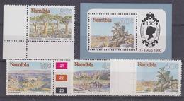 Namibia 1990 Tourism 4v + M/s ** Mnh (33863) - Namibië (1990- ...)