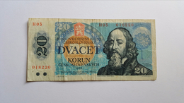 CECOSLOVACCHIA 20 KORUN 1988 - Tchécoslovaquie