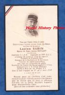 - Lucien SABIN -Capitaine Au 509e R.C.C. Industriel, Prisonnier De Guerre - Fusillé à ASCQ Par Les WafenSS En 1944 - WW2 - Obituary Notices