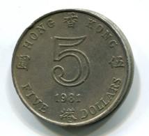 1981 Hong Kong $5 Coin - Hongkong