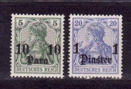 Allemagne   Bureau Levant    N° 29, 31      Neuf Avec Charnière - Allemagne