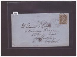 CANADA - LETTRE POUR LA GRANDE BRETAGNE - TB - 1851-1902 Reign Of Victoria