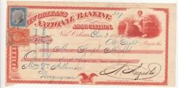 New Orleans National Banking 1872, Vecchio Titolo Di Credito Con Bolli. - Bills Of Exchange
