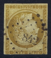 France: Yv Nr 1 Obl Used  PC 842 Cherbourg, 1850 - 1849-1850 Ceres