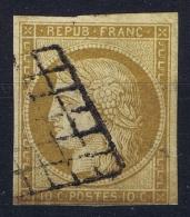 France: Yv Nr 1 Obl Used  Cachet Grille  1850 - 1849-1850 Cérès