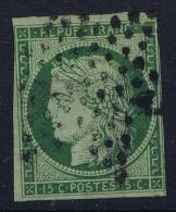 France: Yv Nr 2b Vert Foncé  Obl Used  Cachet Etoile  1850 - 1849-1850 Ceres