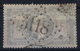 France: Yv Nr 33 Mi 32 Cachet GC 5118 Yokohama  Cote Maury  1250 Euro Sans Mince! No Thin! - 1863-1870 Napoleon III With Laurels
