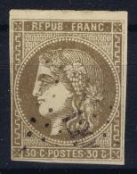 France: Yv Nr 47 Obl Used PC - 1870 Uitgave Van Bordeaux