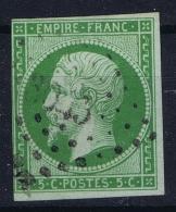 France: Yv Nr 12 Obl Used PC 3043 Saint Die Voges - 1853-1860 Napoleon III