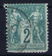France: Yv Nr  62 Used Obl  Irrégulier Perforation - 1876-1878 Sage (Type I)