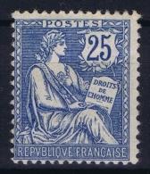 France: Yv Nr  127 MH/* Falz/ Charniere  1902 Line In Gum - Frankreich