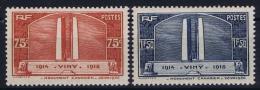 France: Yv Nr  316 - 317  MNH/**/postfrisch/neuf Sans Charniere  1936 - France
