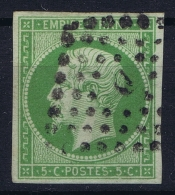 France: Yv Nr 12 Used / Obl.  Signed/ Signé/signiert - 1853-1860 Napoleon III