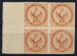Colonies Générales: Yvert Nr 5 Bord De Feille Block De 4 Avec 2* MNH/**/postfrisch/neuf Sans Charniere +2* MH/* - Eagle And Crown