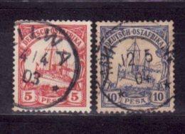 Allemagne   Bureau Afrique Orientale    N° 13, 14      Oblitéré - Kolonie: Duits Oost-Afrika