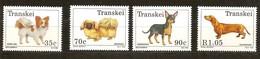 South Africa Du Sud Transkei 1993 Yvertn° 299-302 *** MNH Cote 10,70 Euro Faune Chiens Honden Dogs - Transkei