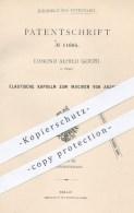 Original Patent - Edmond Alfred Goupil , Paris , 1880 , Kapseln Zum Injizieren Von Arznei | Medizin , Arzt , Medikamente - Historische Dokumente