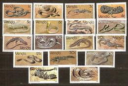 South Africa Du Sud Venda 1986 Yvertn° 120-136 *** MNH Cote 12,50 Euro Faune Reptiles - Venda
