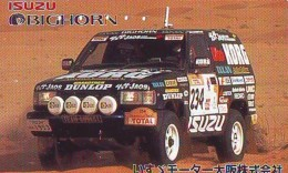 Télécarte Japon RALLYE RALLY RALLEY (1726) ISUZU * AUTO * VOITURE * CAR  Phonecard JAPAN * RACING * TK * - Cars