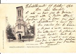 G , Cp , 86 , CHATELLERAULT , Église Saint-Jean L'Évangéliste - Chatellerault
