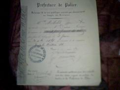 Vieux Papier A Entete De 1858   Archives Prefecture De Police Balayage De La Voie Publique ..paris - Non Classificati