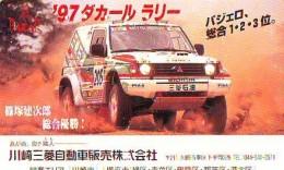 Télécarte Japon RALLYE RALLY RALLEY (1737) MITSUBISHI * AUTO * VOITURE * CAR  Phonecard JAPAN * RACING * TK * - Cars