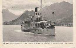 CPA  74 - LAC D'ANNECY - Le Vapeur France - Duingt Et Les Montagnes D'Entrevernes - Annecy