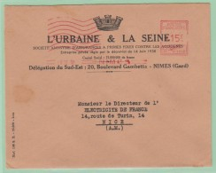 Fr18. France EMA  L´Urbaine Et Seine  Nimes 10.11.50 - Storia Postale