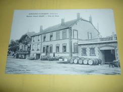 Ancienne Carte Postale Cpa Armagne Lucquy Maisons De Vins En Gros Albert Goury Tonneaux Vue Entreprise - Altri Comuni