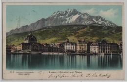 Luzern - Bahnhof Und Pilatus - Preis-Karte No. 255 - LU Lucerne