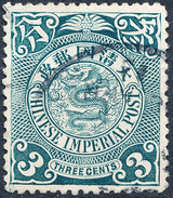 Stamp China Coil Dragon Chinese Imperial Post 3c 1905-10 Used Lot62 - Oblitérés