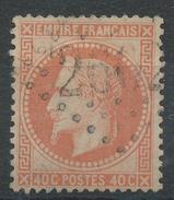 Lot N°33084   Variété/n°31, Oblit GC 2602 NANTES (42), Filet OUEST - 1863-1870 Napoleon III With Laurels