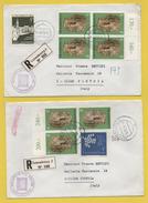 Luxemburg / 2 Einschreiben Von Luxemburg Nach Italien Von 1975 - Mischfrankatur - Brieven En Documenten