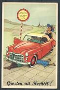 +++ CPA - Groeten Uit HECHTEL - Carte Fantaisie - Auto Voiture Car - Humour  // - Hechtel-Eksel