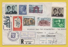 """Luxemburg / Einschreiben Von Luxemburg Nach Belgien Von 1982- Mischfrankatur Mit Vermerk """"Retour"""" - Brieven En Documenten"""