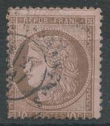 Lot N°33090   Variété/n°54, Oblit Cachet à Date à Déchiffrer, Piquage - 1871-1875 Cérès